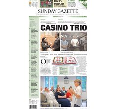 The front page of the Taunton Daily Gazette for Sunday, June 14, 2015.