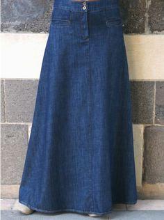 Denim Flattering Fit A-Line Skirt