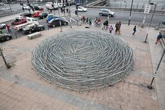 """""""Barriers"""" a new street installation by SpY in Santiago, Chile"""