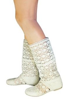 Amazon.com: BABOOTS Women's Summer BEIGE Crochet Boots: Shoes