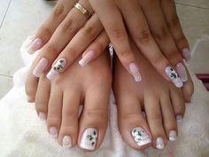 French Pedicure, Manicure, Nails, Tatt, Health And Beauty, Nail Designs, Hair Beauty, Nail Art, Pretty