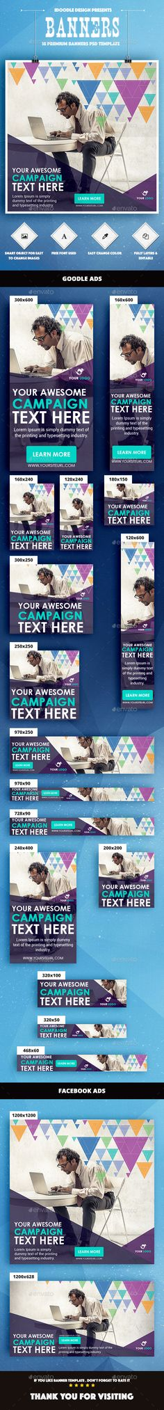 Color Mix / Multipurpose Web Banner Ad Template PSD #design #ads Download: http://graphicriver.net/item/color-mix-multipurpose-banner-ad/13788154?ref=ksioks