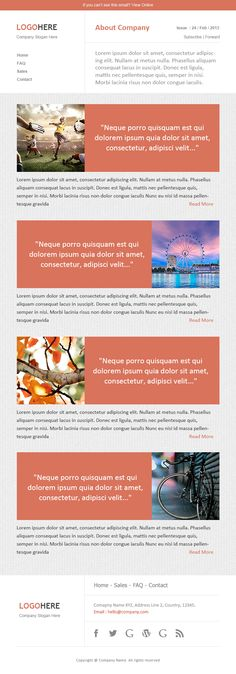 Newsletter Templates, Free Email Templates CakeMail Email - company newsletter template free