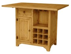image rustic mexican furniture. rustico wood kitchen island w wine rack image rustic mexican furniture