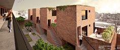 Galería - Segundo lugar en Concurso Iberoamericano de Vivienda Social IX BIAU / Argentina - 2 Micro Apartment, Apartment Plans, Council House, Global Home, Argentine, Social Housing, Architecture Visualization, Small House Plans, Urban Planning