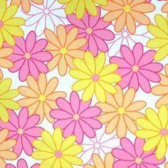 Multi colored daisy effect.