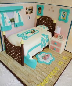 backdrop girly bedroom cake, Disney princesses and one direction