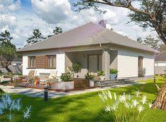 Projekt domu Tryton teriva 98,96 m2 - koszt budowy 207 tys. zł - EXTRADOM Tiny Apartments, Design Case, Gazebo, House Plans, Outdoor Structures, Houses, Blueprints For Homes, Kiosk, Home Layouts