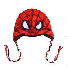 1 unid envío gratis Crochet niños del hombre araña sombreros de punto foto del bebé atrezzo Kids invierno gorros MZS 14070 en Sombreros y Gorras de Bebés en AliExpress.com | Alibaba Group