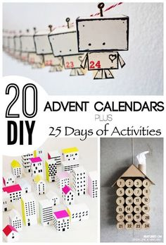 These are the most unique advent calendars I have seen! Some great ideas for this christmas. Would be great for the classroom to add fun activities to do as a class.