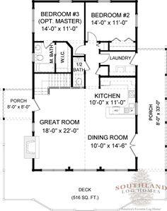 Cabin house plans   Rockbridge   Southland Log Homes