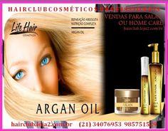 *07HC102G *ARGAN,* ÓLEO DE 1P 140ML LIFE HAIR *http://hairclub.loja2.com.br/6904603-ARGAN-OLEO-DE-1P-140ML-LIFE-HAIR-07HC102G* Reparação absoluta e nutrição completa, através do tratamento intenso do bulbo capilar através desse insumo extra...
