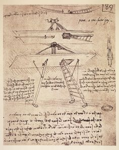 Study of a flying machine, by Leonardo da Vinci