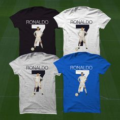 Real Madrid Ronaldo T-Shirt - CR7 Soccer Player - Size S to Xxxl -Custom Apparel Football, futbol, soccer, la liga, real madrid, ronaldo by Graphics17 on Etsy