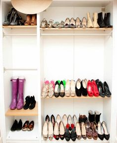 I don't have 500 pairs of shoes but if I see a pair that I love, I buy them. My housekeeper Doris organizes them. I'd be lost without her!