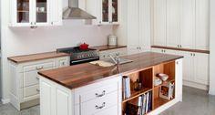 Branco madeira alum nio vidro cozinha a rea for Kitset kitchens