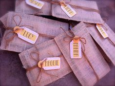 Burlap Envelope Invite.