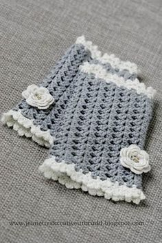 #diy Crochet wrist warmers