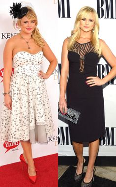 """Miranda Lambert de Celebrity Weight Loss  The country cutie showed off a thinner frame in November 2013 but didn't keep track of how much weight she lost.""""I lost my weight the healthy and good old fashioned way,"""" she said. """"Watching what I eat and working out with my trainer Bill Crutchfield."""""""