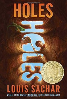 Winner of the Newbery Medal and the National Book Award! This New York Times bestselling, modern classic in which boys are forced to dig holes. Newbery Award, Newbery Medal, Books For Boys, Childrens Books, Tween Books, Louis Sachar Books, New York Times, Holes Book, Toys For Little Kids