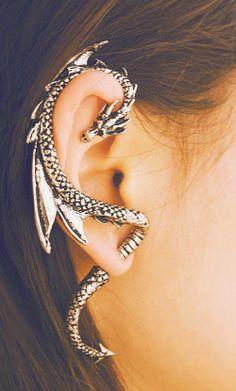 #earring #dragon #tumblr #perfect #beautiful #cool
