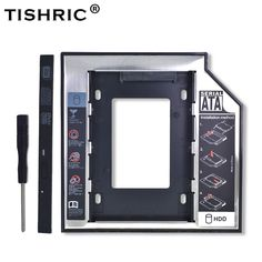 """TISHRIC Plastic Aluminum Universal Optibay 2nd HDD Caddy 9.5mm SATA3.0 2.5"""" SSD CD DVD to HDD Case Enclosure CD-ROM ODD  Price: 9.00 & FREE Shipping  #tech