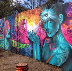 Psychedelic art ✨  #trippy #psychedelic #bushdoof #maitreya #drugart