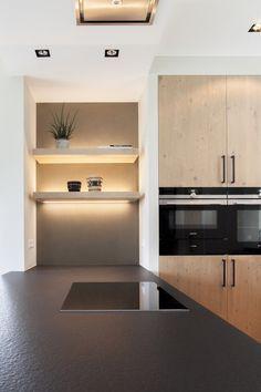 Family Kitchen, Kitchen Dining, Kitchen Decor, Kitchen Countertops, Kitchen Cabinets, Küchen Design, Interior Design, Wooden Cabinets, Minimalist Design