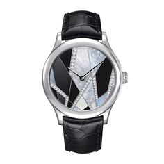 See the Van Cleef & Arpels Midnight Inspiration Art Déco Reflets watch - Movement : Self-winding mechanical - Case : White gold High Jewelry, Jewelry Rings, Silver Jewelry, Art Deco Watch, Inspiration Art, Gemini Zodiac, Luxury Watches, Unique Watches, Van Cleef Arpels