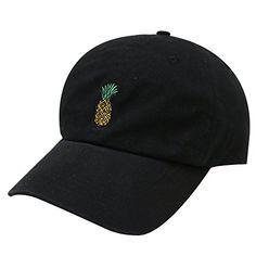 f7ac0c89b70ef City Hunter Pineapple Cotton Baseball Cap Multi Colors (Black)  Cute  Pineapple Caps CITY HUNTER CAP USA is the original company sell these hats  Cosmic ...