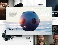 """Check out this @Behance project: """"Nokia OZO - website"""" https://www.behance.net/gallery/44287473/Nokia-OZO-website"""