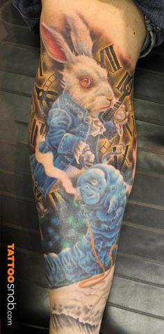 Alice in Wonderland Tattoo by Chad Clayton