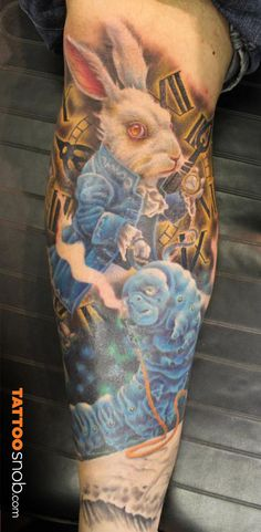 Alice in Wonderland Tattoo by Chad Clayton