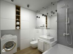 In addition to being a storage solution, bathroom furniture is an inseparable part of the integral design of this room.
