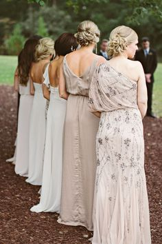 bridesmaids  Read more - http://www.stylemepretty.com/north-carolina-weddings/2013/12/24/oaks-at-salem-wedding/