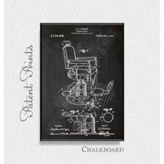 Barbers Chair 1914 Patent Print