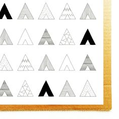 Detail of my teepee poster, available in my shop now!