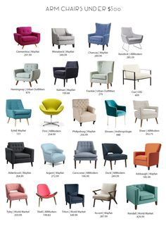 Arm Chair Roundup When it comes to online shopping, it often feels like the choices are endless. This can be especially true for arm chairs. Living Room Sofa Design, Accent Chairs For Living Room, Living Room Designs, Modern Sofa Designs, Sofa Set Designs, Modern Furniture Design, Home Decor Furniture, Living Room Furniture, Living Room Decor