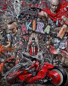 Akira Red Fighting Anime Movie Art Silk Poster Print Pictures for Wall Decor Manga Anime, Anime Art, Akira Anime, Katsuhiro Otomo, Arte Cyberpunk, Alien Tattoo, Non Plus Ultra, Movie Poster Art, Anime Merchandise