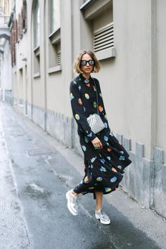 Playful Superstellaheroes motifs are found across standout pieces from our ‪#‎Spring15‬ collection, adding fun to off-beat looks, as seen in Vogue Espana. ‪ #‎StellaStreetStyle‬
