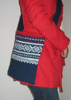 Mariusveske Norwegian Knitting Designs, Diy Bags, Knitting Accessories, Vera Bradley Backpack, Norway, Pattern, Fashion, Moda, Fashion Styles