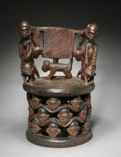 Chair | Chair, 1800s      Equatorial Africa, Cameroon, late 19th century      wood, Overall - h:80.70 w:53.30 d:44.50 cm (h:31 3/4 w:20 15/16 d:17 1/2 inches).