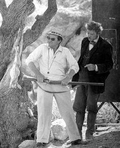 Director Luchino Visconti and Burt Lancaster go over a scene of Il gattopardo 1963