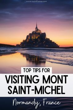 The Mont Saint-Michel will blow you away. It's the second most visited place in France after Paris. The monument is instantly recognizable in photos and just as gorgeous in the daytime as it is at night. This Normandy must-see tourist stop borders Brittany and dates back to the year 966. Since then, the Mont Saint-Michel has been a monastery, prison, and a historical monument. Here are my tops tips for visiting Mont Saint-Michel and I'll tell you if I think it's worth the trip.