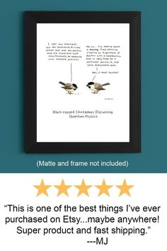 Physics Gift Weird Stuff Science Gift Chickadee   Etsy Funny Bathroom Art, Bathroom Humor, Geek Decor, Nerd Gifts, Science Gifts, Paper Frames, Funny Art, Bird Prints, Best Friend Gifts