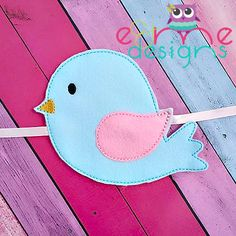 Bird Curtain Tie Back Embroidery Design - 5x7 or Larger - E&Me Designs