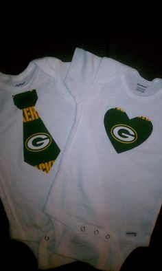 Greenbay tie or heart onesie by BonitaCouture on Etsy, $8.00