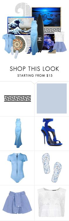 """""""Water Fashion"""" by laniocracy ❤ liked on Polyvore featuring Merola, Chanel, éS, Giuseppe Zanotti, Lisa Marie Fernandez, Tory Burch, WithChic, Topshop and Castañer"""