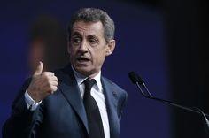 France. Avril 2016. Le président des Républicains, Nicolas Sarkozy