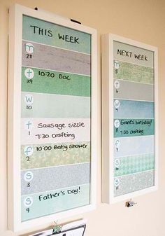 Put scrapbook paper under sheet of glass and use whiteboard markers.. So smart!!